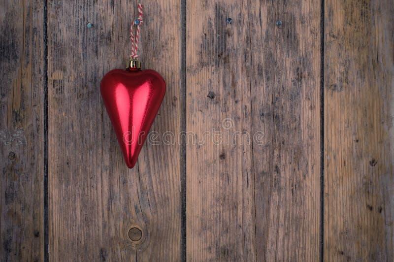 Christmas heart ornament stock photos