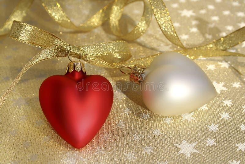 Christmas hearts royalty free stock photo