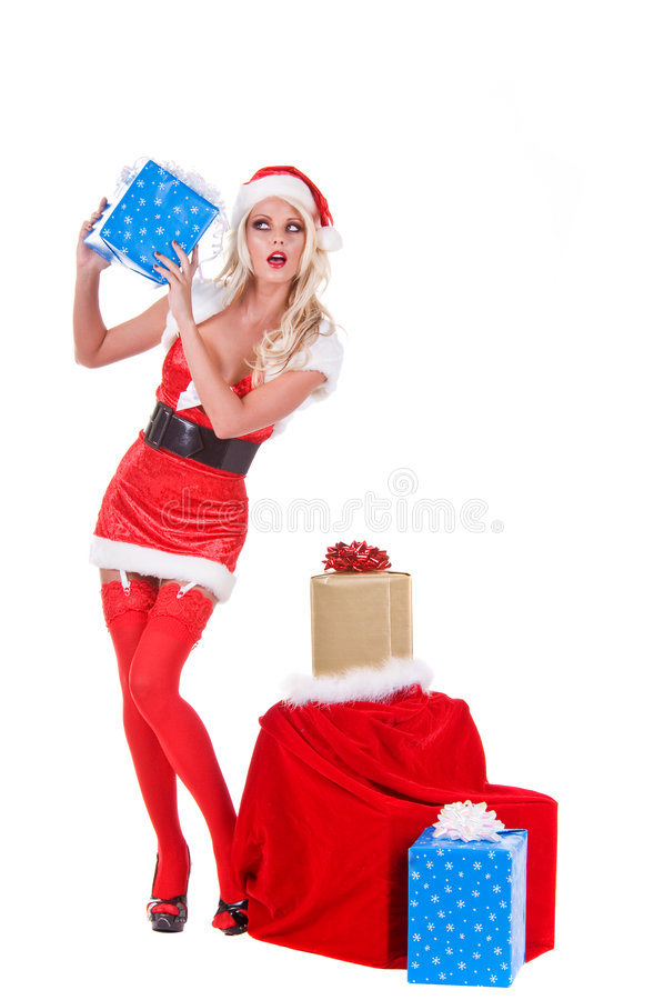 Download Christmas Helper stock photo. Image of white, belt, young - 6277072