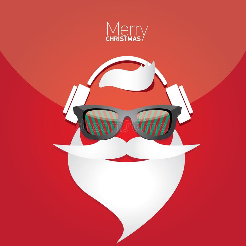 Christmas hipster poster for party or card. stock photos
