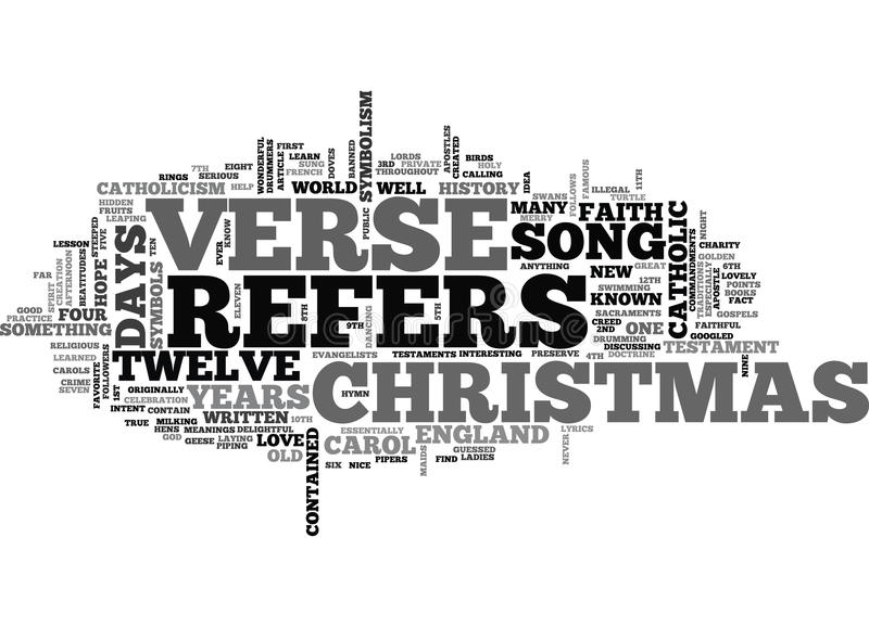 A Christmas History Lesson Word Cloud vector illustration