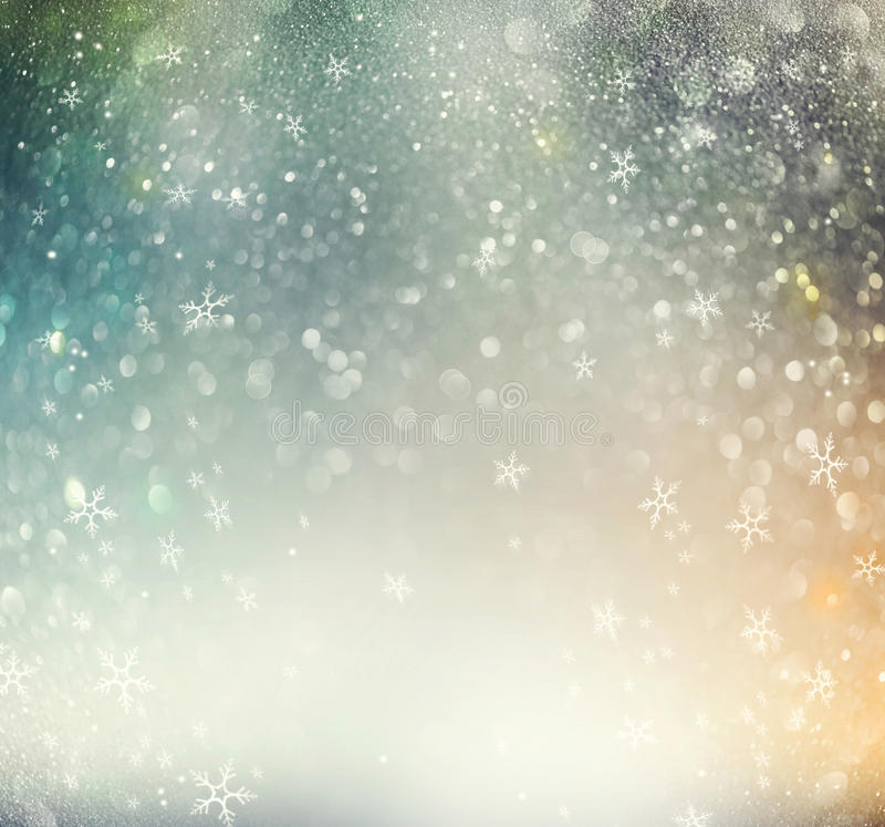 Christmas holiday abstract defocused background stock illustration