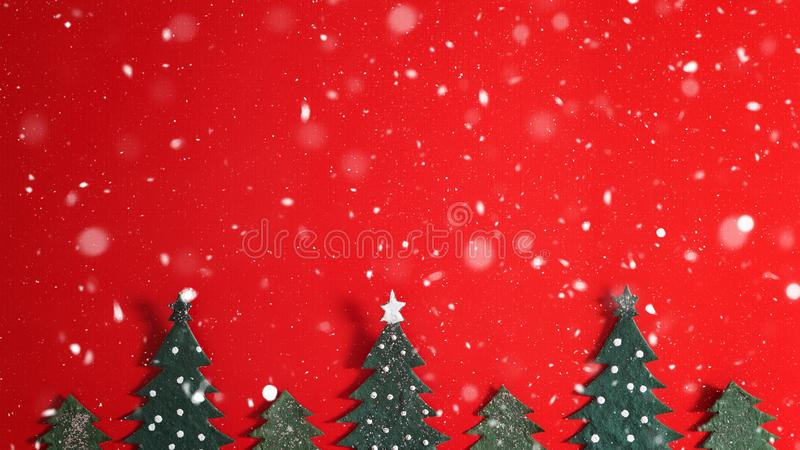 Christmas holiday background with Santa and decorations. Christmas landscape with gifts and snow. Merry christmas and happy new ye. Ar greeting card with copy stock images