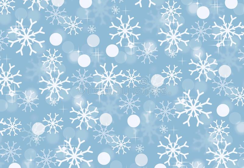 Christmas holiday background with snowflakes . Winter pattern . Illustration design royalty free stock photos