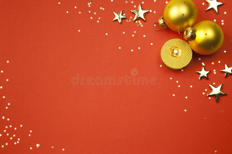 Download Christmas Holiday Background With Stars, Balls Stock Photo - Image: 11625422