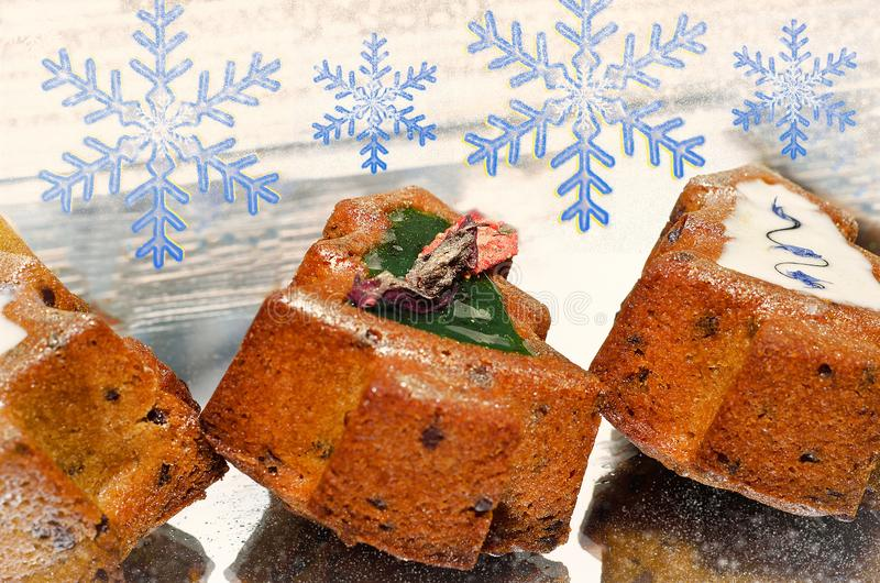 Christmas holiday cakes royalty free stock photos