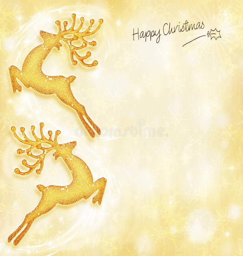 Free Christmas Holiday Card,background, Reindeer Royalty Free Stock Photo - 22288895