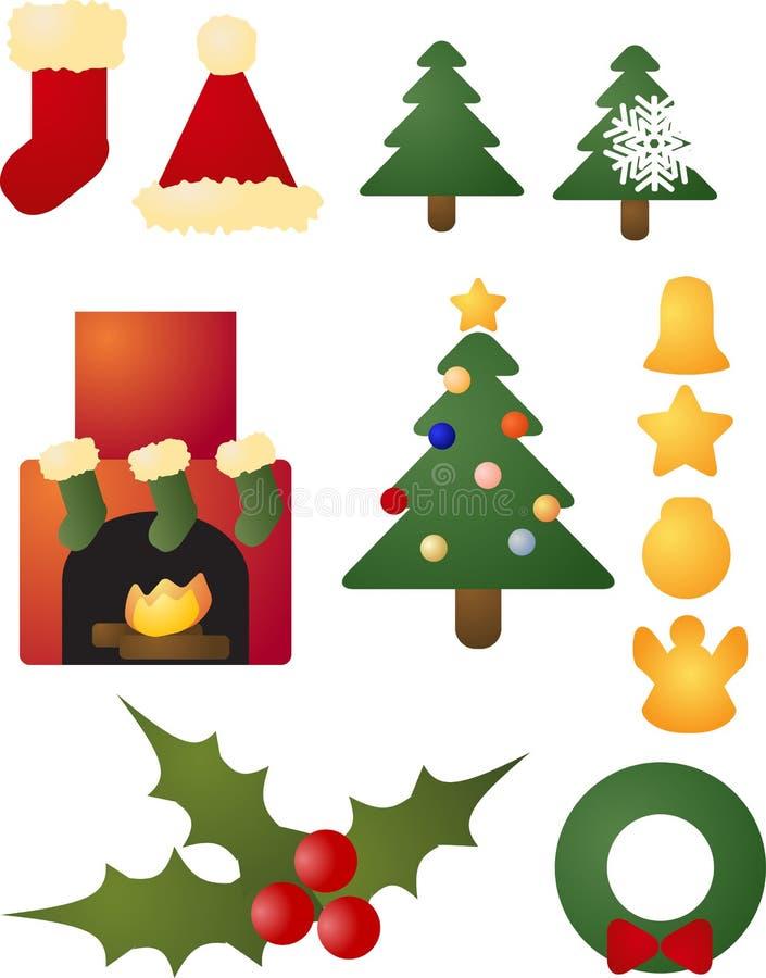 Download Christmas Holiday Celebration Icons Stock Illustration - Image: 11968011