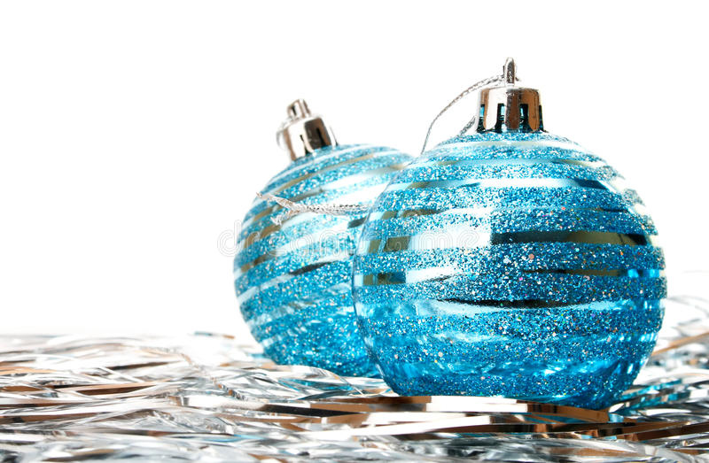 Download Christmas Holiday Decoration With Blue Ball Stock Image - Image of xmas, white: 11869981