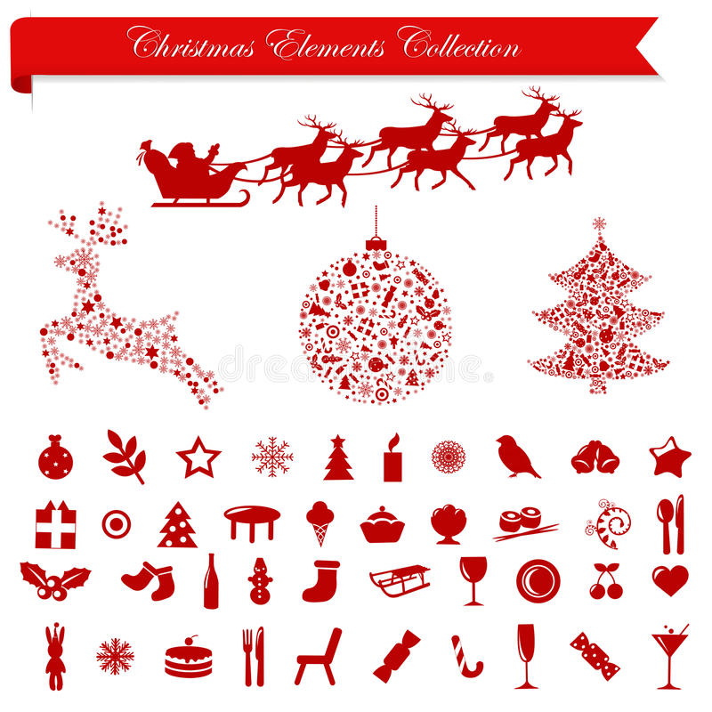 Christmas Holiday Elements. Vector stock illustration