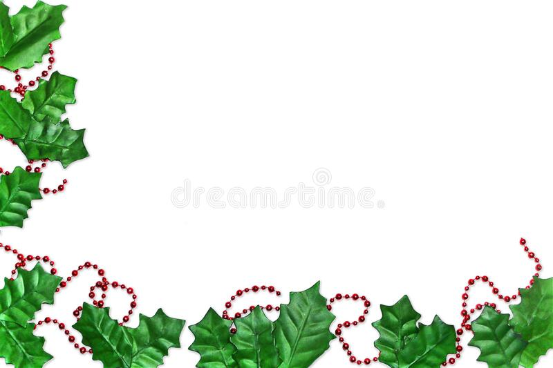 Christmas holiday holly background border. A christmas holiday holly background border royalty free stock images