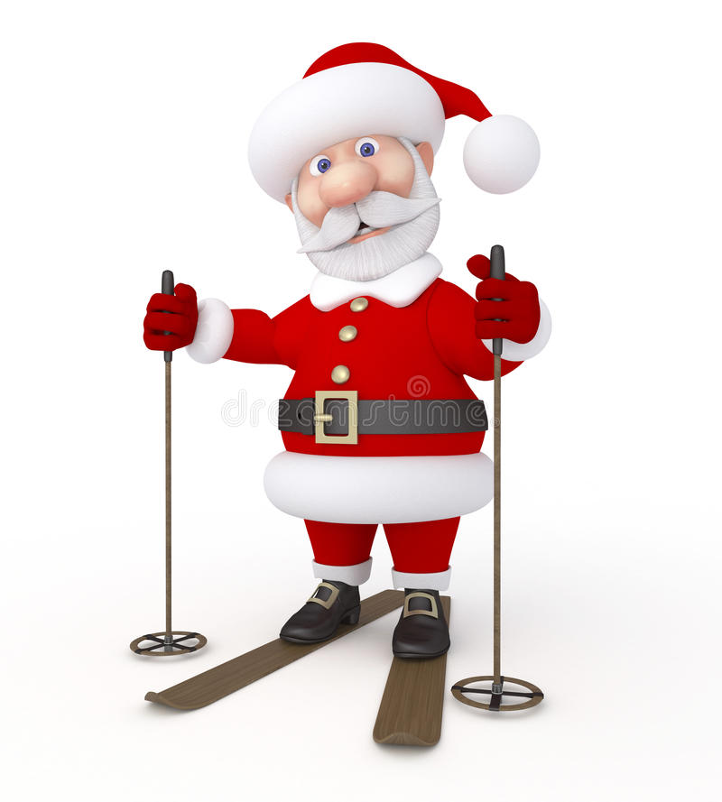 Christmas holiday. New Year's congratulation from Santa Claus stock illustration
