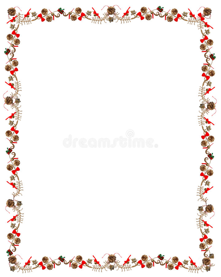 Download Christmas & Holiday Pine Cone & Ribbon Frame Stock Photography - Image: 7423962