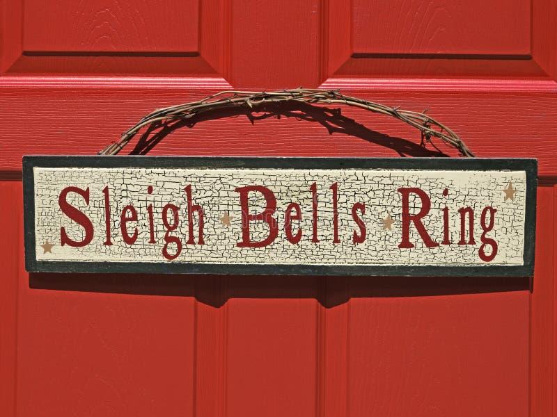 Christmas holiday sign stock photo