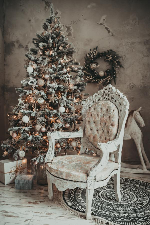Christmas holiday vintage decorations stock images