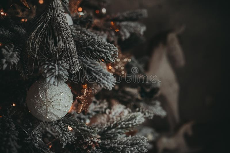 Christmas holiday vintage decorations stock photography