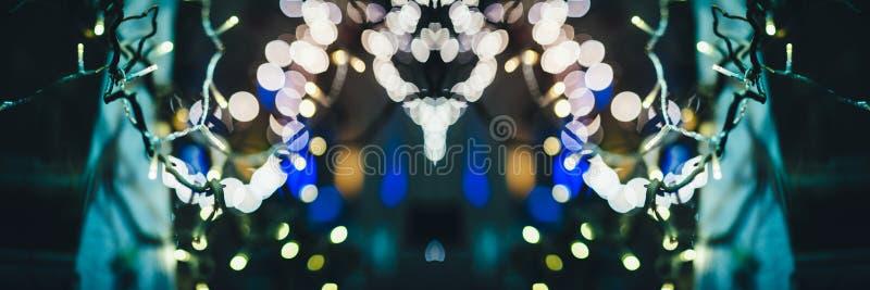 Christmas Market defocused bokeh light royalty free stock photography