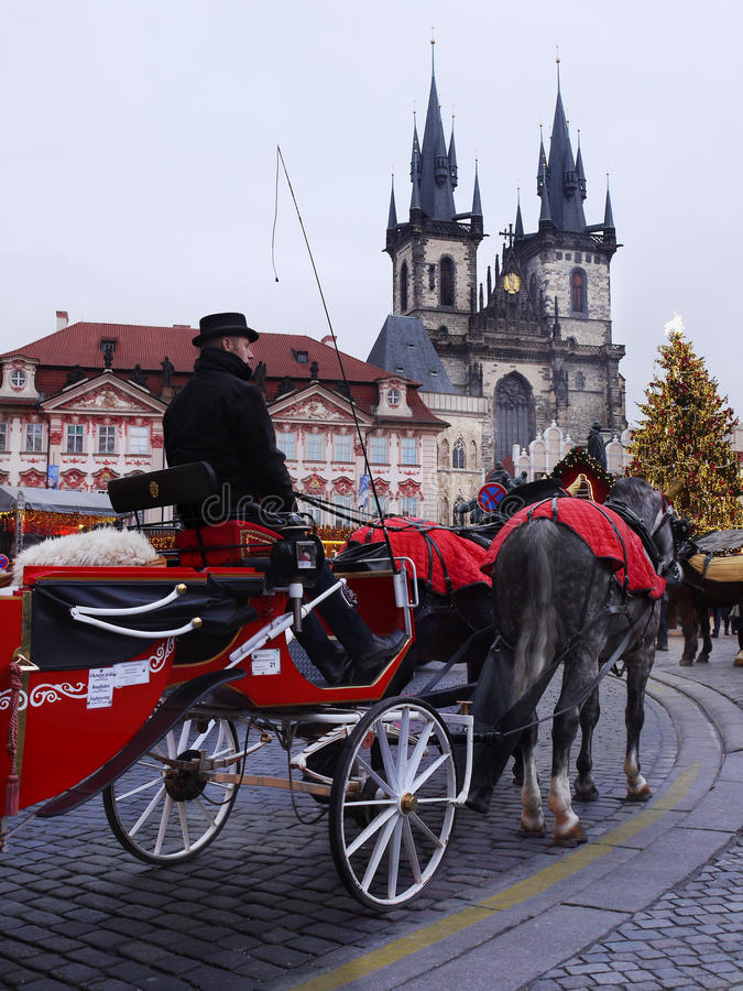 Christmas Holidays, Prague stock photo