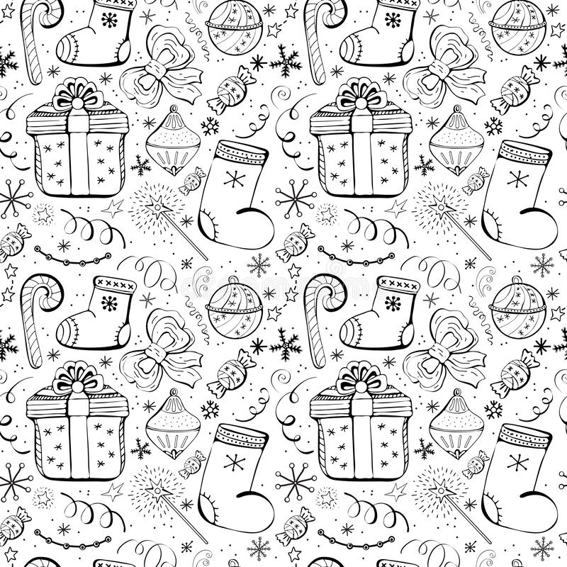 Free Christmas Holidays Seamless Vector Background With Gifts, Candy, Toys, Snowflake. Cute Fun Seamless Background With Winter Holiday Royalty Free Stock Photo - 157249995