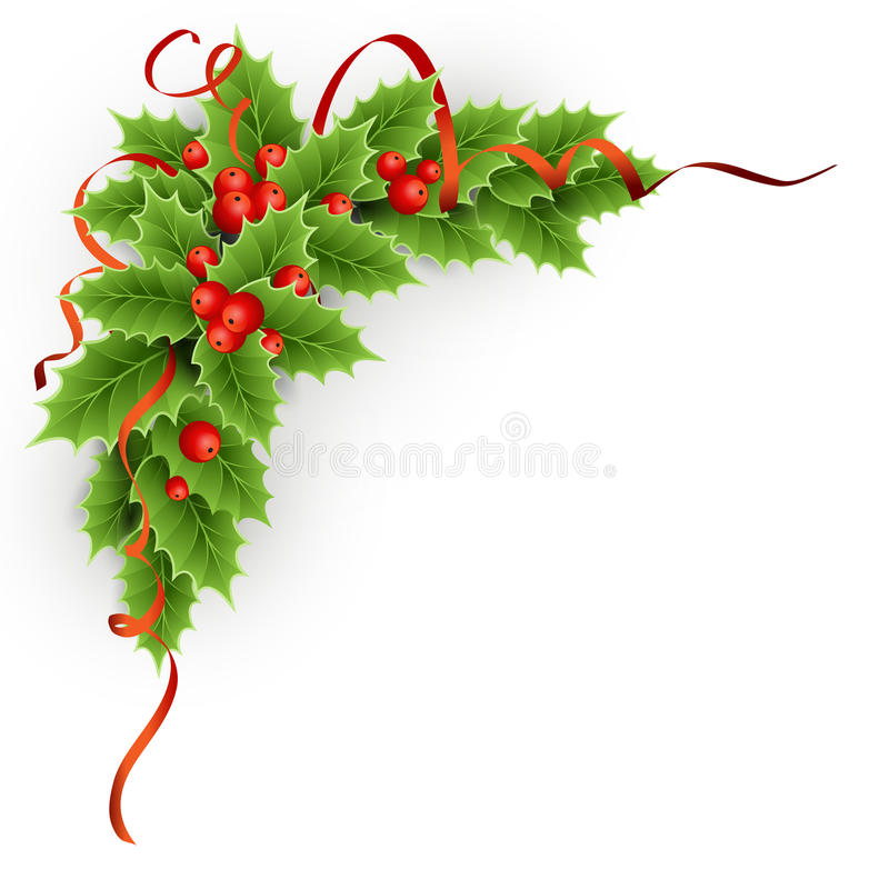 Download Christmas  Holly With Berries. Stock Vector - Image: 35143493