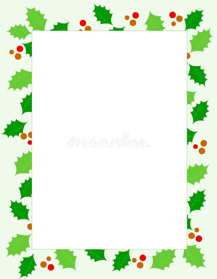 Download Christmas holly Border stock vector. Image of circle, noel - 6346573