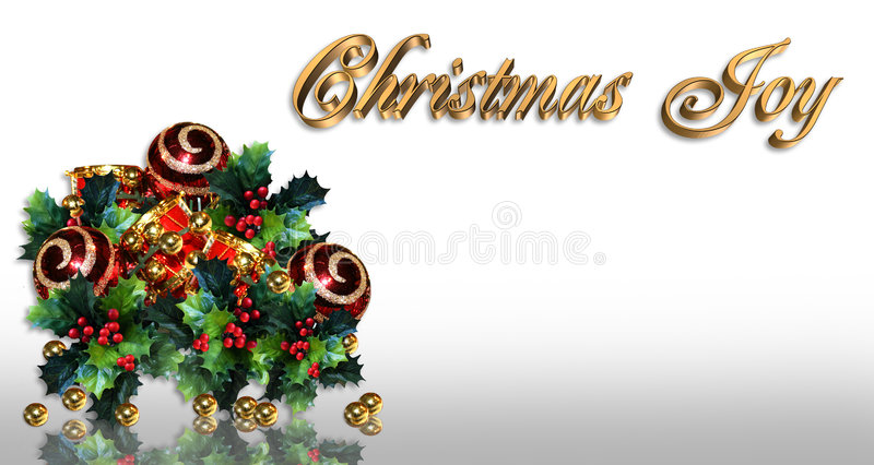 Christmas Holly Border Card Or Label Royalty Free Stock Photography