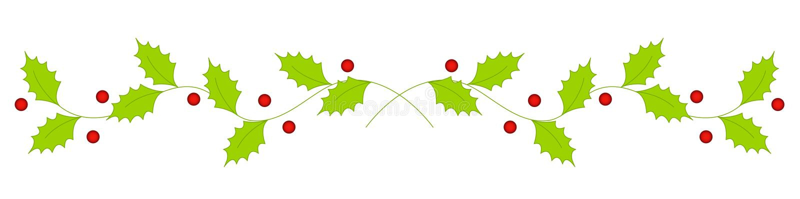 Christmas holly divider border stock vector for Holl image