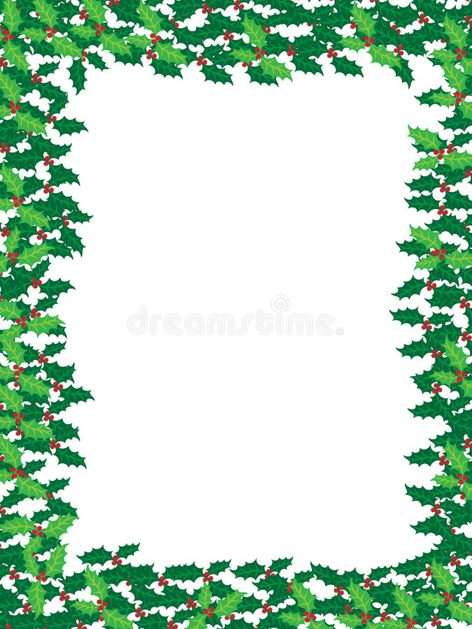 Download Christmas holly frame stock vector. Image of seasonal - 11272857