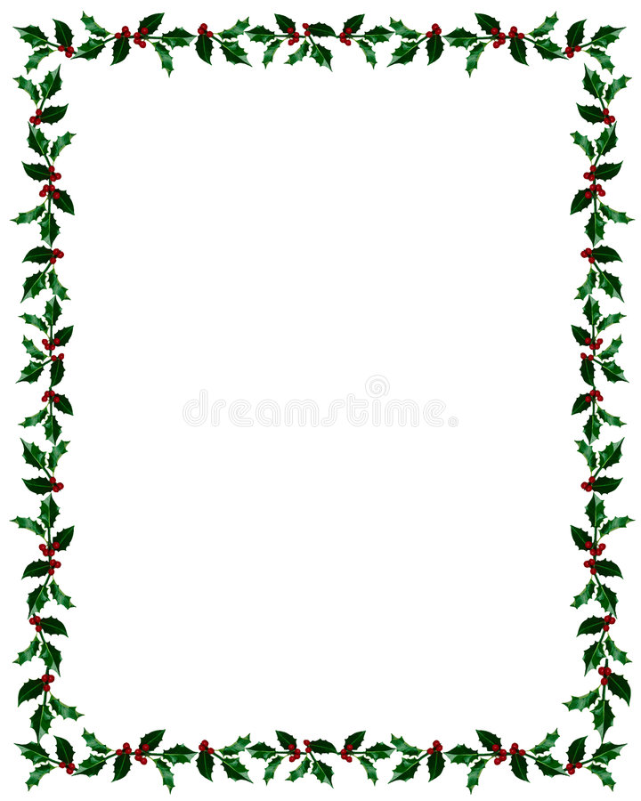 Free Christmas Holly Frame With Clip Path Stock Photo - 7353010