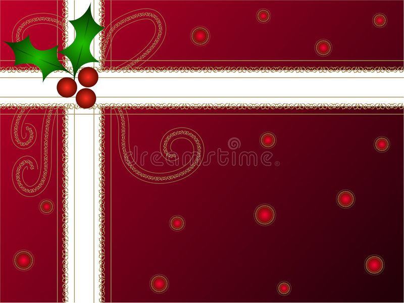 Download Christmas holly gift pack stock illustration. Illustration of holidays - 1589064