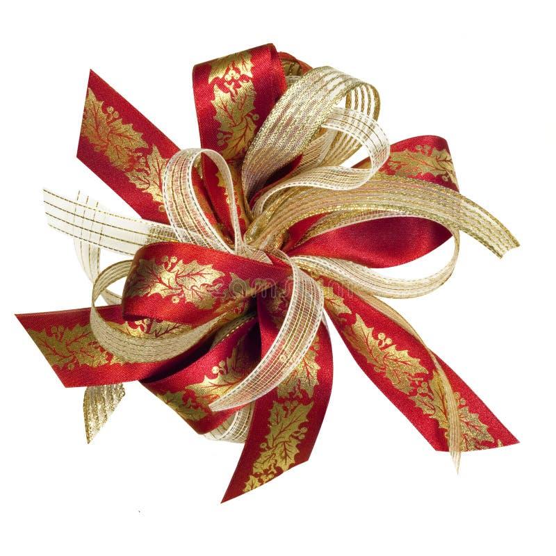 Christmas Holly Ribbon stock photography