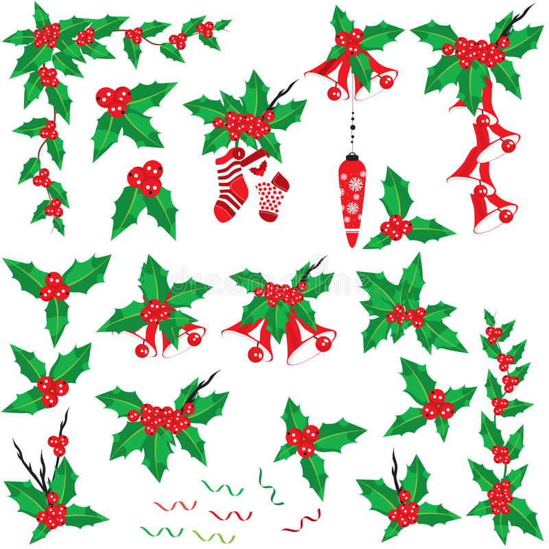 Download Christmas holly set stock image. Image of decoration - 11349035