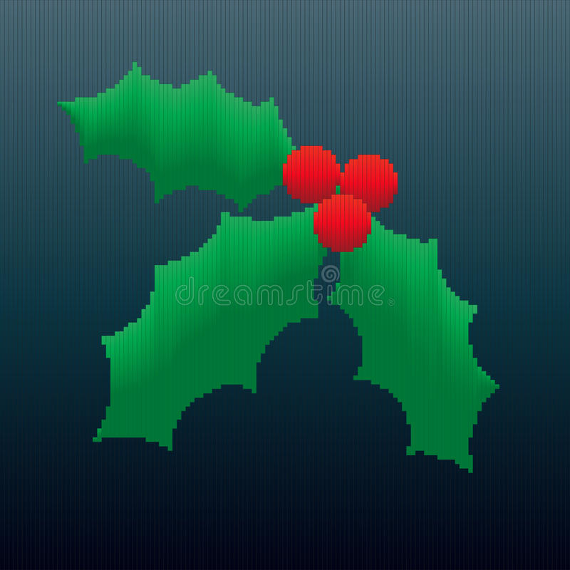 Download Christmas Holly in Stripes stock vector. Image of design - 26804109