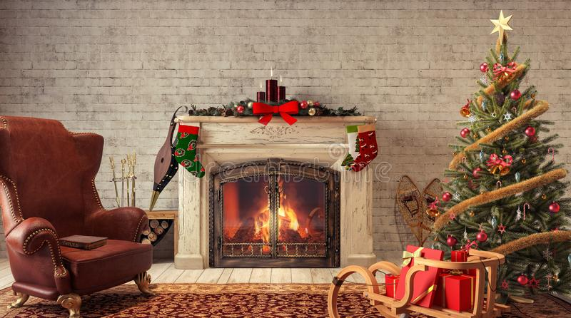 christmas home στοκ εικόνες με δικαίωμα ελεύθερης χρήσης
