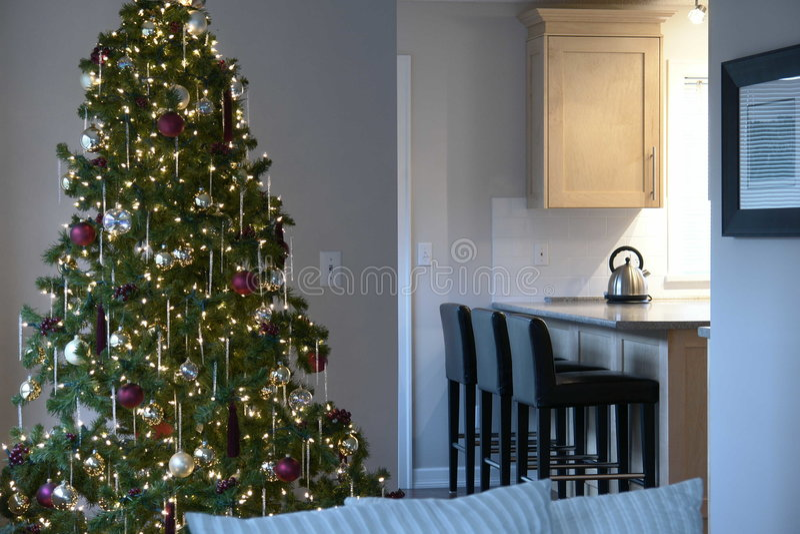 Christmas Home Interior royalty free stock photos