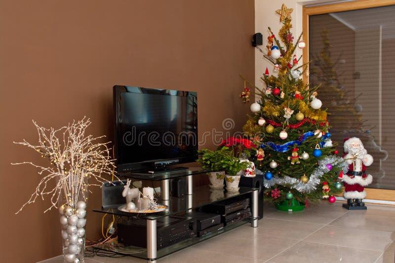 Christmas home interior stock image
