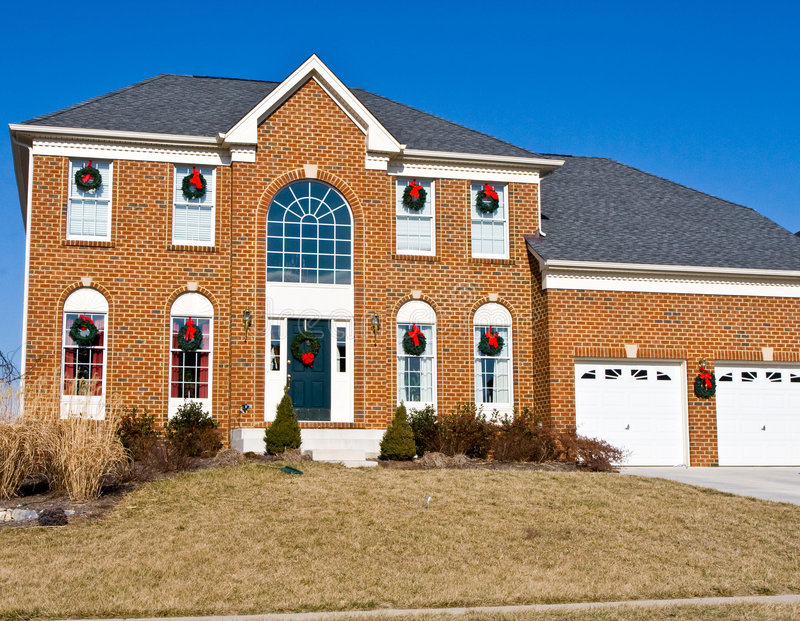 Christmas Home In Virginia Stock Image