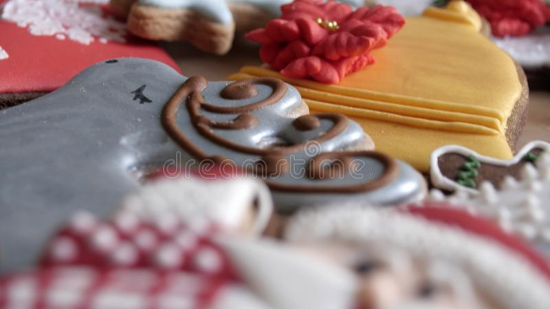 Christmas homemade cookies, gingerbread isolated on white background royalty free stock photos