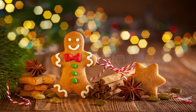 Christmas homemade gingerbread cookies a royalty free stock image