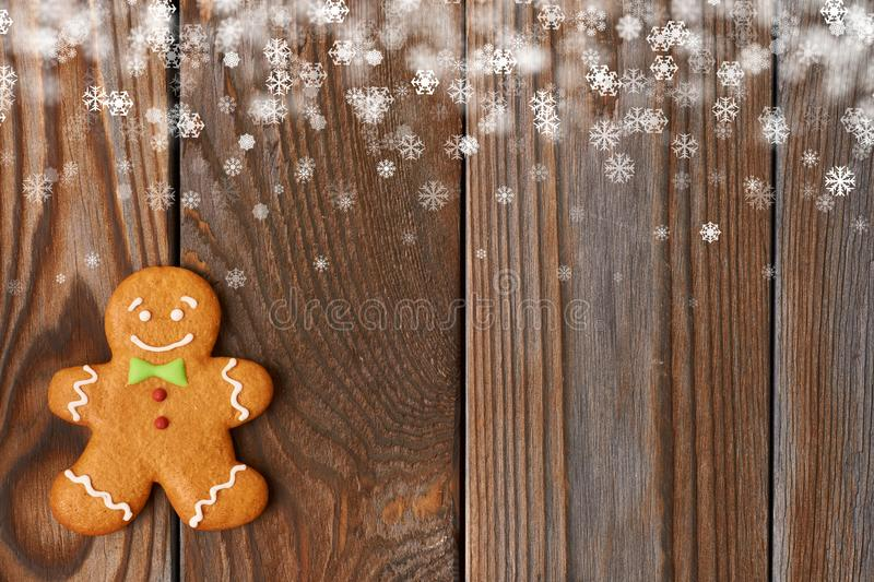 Christmas homemade gingerbread man cookie royalty free stock photos