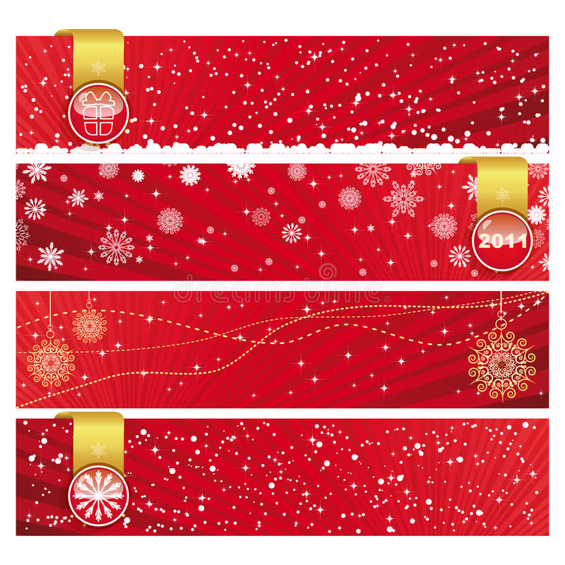 Christmas Horizontal Banner royalty free stock photo