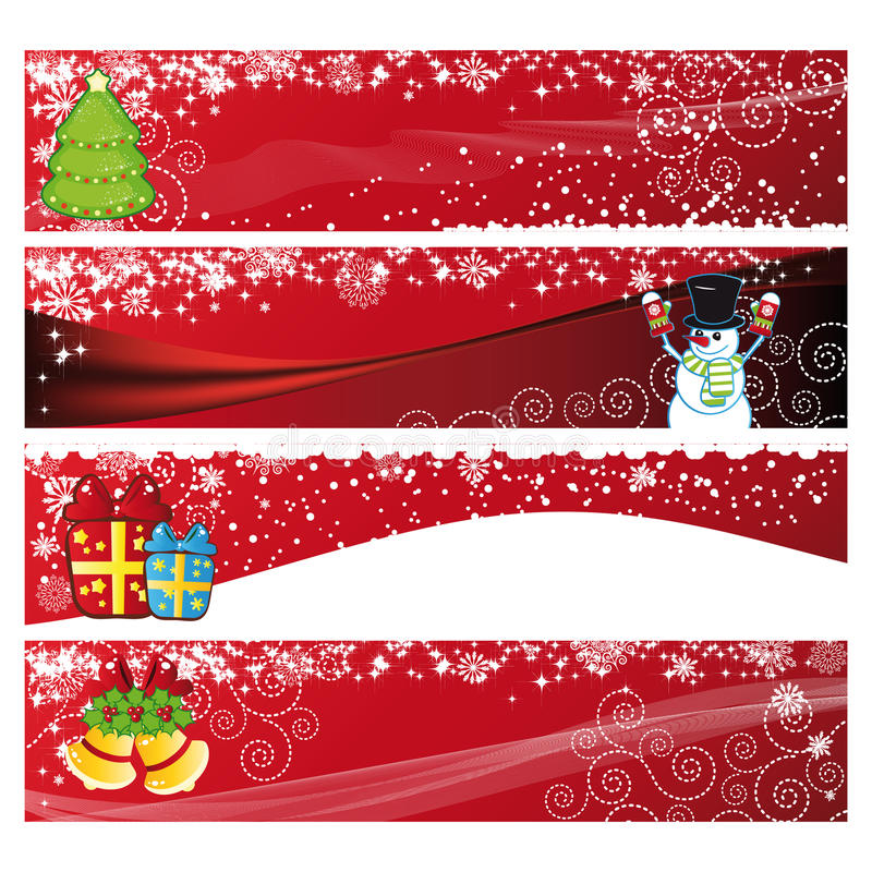 Christmas Horizontal Banner stock illustration