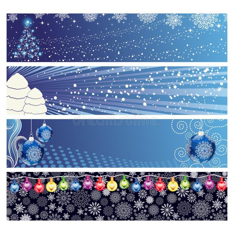 Christmas Horizontal Banner royalty free stock photos
