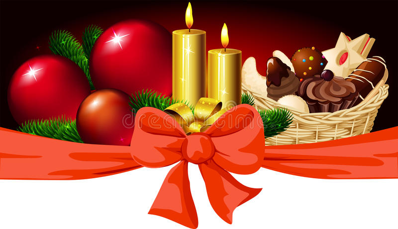 Christmas Horizontal Design Royalty Free Stock Images