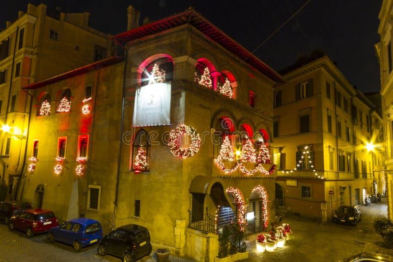 Christmas Hostaria Del Orso Rome royalty free stock image