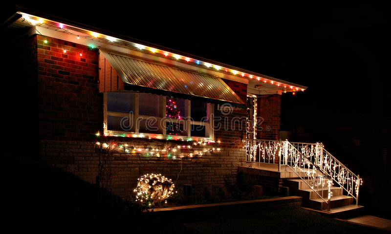 christmas house στοκ εικόνα με δικαίωμα ελεύθερης χρήσης