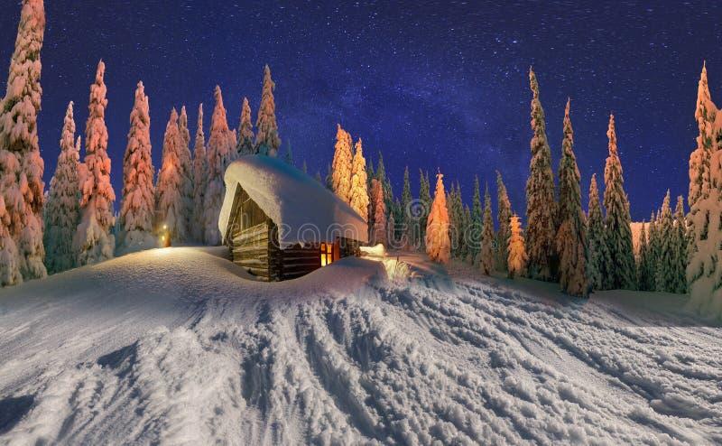 Christmas house stock photography