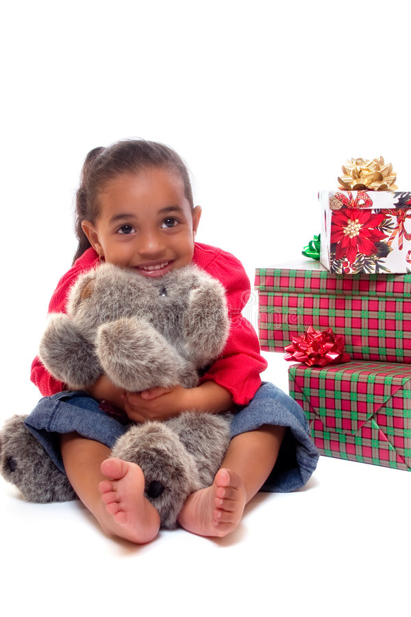 Christmas Hug stock image