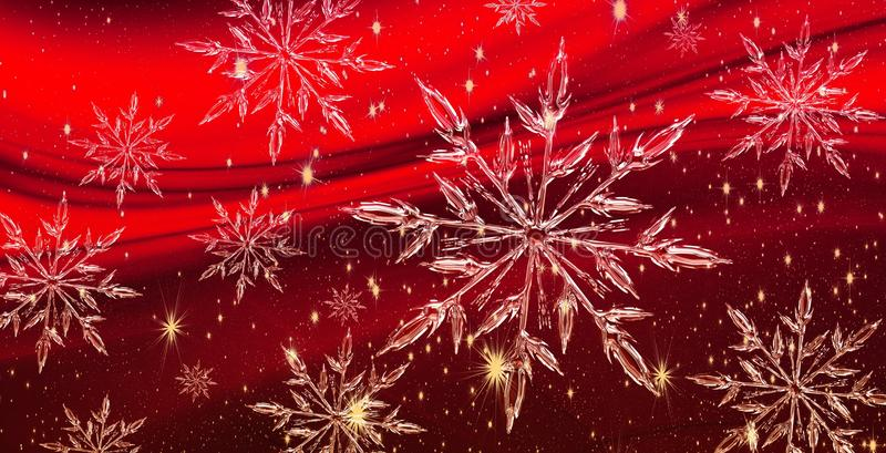 Christmas ice crystal banner, background royalty free stock images