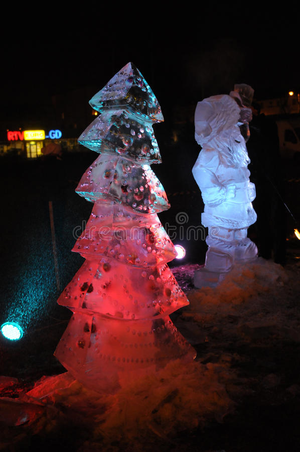 Christmas Ice Sculptures Editorial Stock Image - Image: 27574714